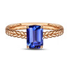 Natural Tanzanite Ring in White, Yellow, or Rose Gold