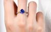 Heart Shape Tanzanite and Diamond Ring