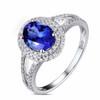 Beautiful Oval Cut Split Shank Tanzanite Ring with Natural Diamonds