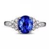 Ocal Cut Tanzanite Diamond Ring Classic Design
