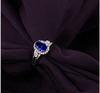 Tanzanite Ring with Round Natural Diamonds