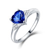 Unique Heart Shape Tanzanite Diamond Ring