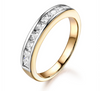 Brilliant Channel Set Princess Cut Diamond Band BCS252