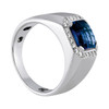 Men's Tanzanite Diamond Ring AAA+ 7MM T000345