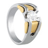 Men's Two Tone Antique Diamond Ring 7MM 1 Carat Diamond D00392