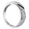 Three Stones Brushed Men's Wedding Band W000421