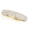 Three Row Diamond Wedding Band TRD482