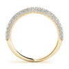 Beautiful Three Pave Round Diamond Wedding Band