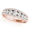 Unique Round Diamond Wedding Band URD245