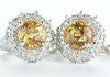 Yellow Citrine Pave Set Diamond Earrings C84921