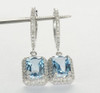 Swiss Blue Topaz Diamond Drop Earrings BT0493