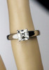Blue Nile Platinum Engagement Ring Ideal Asscher Cut Diamond