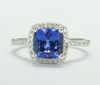 Natural Cushion Tanzanite  Diamond Ring  AAA TN39203