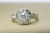 antique halo engagement ring