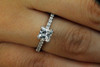 Unique Ideal Princess Cut Diamond Ring - E VS1 GIA Certified IGI Appraised
