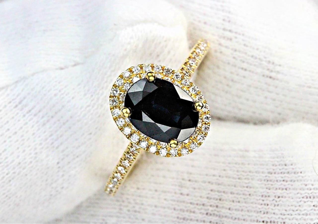 Sapphire Solitaire Enement Rings | Sapphire Diamond Engagement Ring Petra Gems
