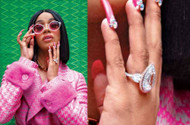 The Unique Pear Cut Cardi B 'Titanic' 24 Carat Diamond Ring