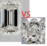 Difference between Emerald vs Radiant vs Cushion Cut Diamonds