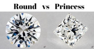 Round vs Princess Cut Diamonds