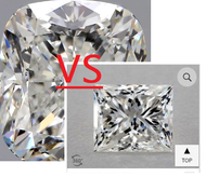 Radiant vs Cushion vs Princess Cut Diamonds: What is the difference?