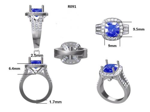 Platinum Semi Mount Ring