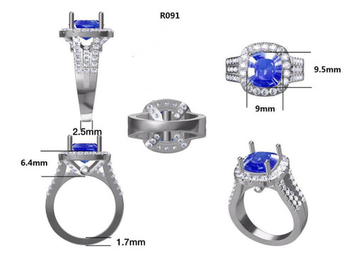 Platinum Semi Mount Ring