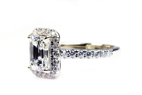 Emerald Cut Engagement Ring GIA Certified Diamond 1.51 VVS2 G