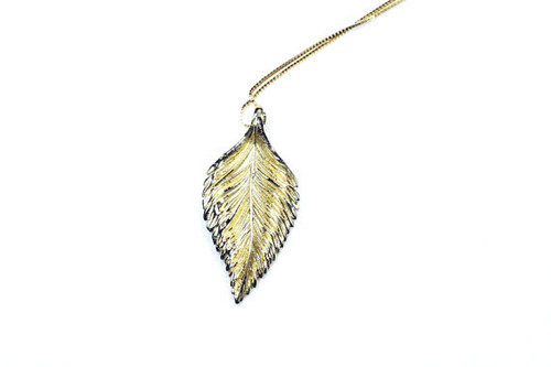 Leaf Shaped Necklace Pendant/chain Unique Fine Jewelry, Leaf Jewelry, Gift for Her,