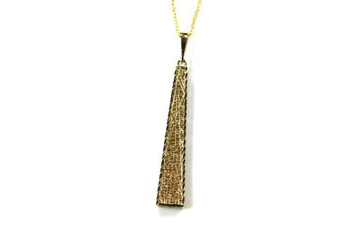 Lattice Necklace Pendant and Chain Unique Fine Jewelry Design