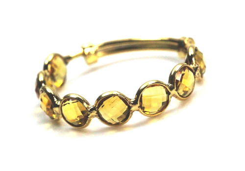 Stackble Ring, Yellow Citrine Ring, Natural Gemstone Ring, 18K Yellow Gold Ring