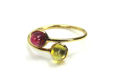 Natural Mixed Color Natural Gemstone Ring