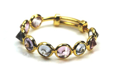 Mixed Color Natural Topaz Ring, Stackable Ring