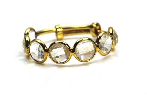 Labradorite Gemstone Ring, 18K Labradorite Yellow Gold Ring