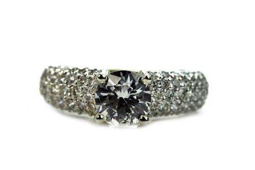 Unique Diamond and White Sapphire Ring