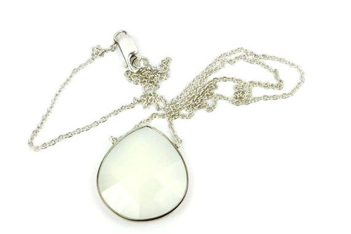 White Moonstone Natural Moonstone Necklace