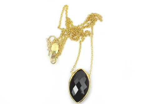 Beautiful Necklace with Black Spinel