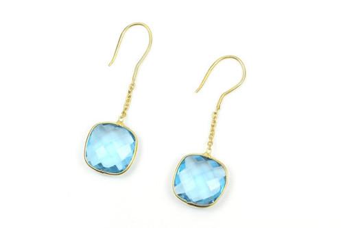 Blue Quartz Drop Earrings,