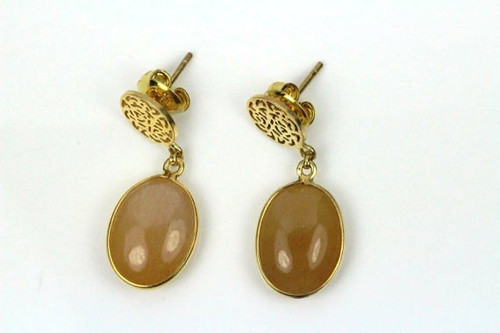 Natural Golden Rutilated Quartz Earrings