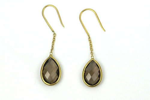 Unique Earrings with Smokey Topaz