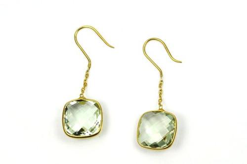 Beautiful Green Amethyst Earrings