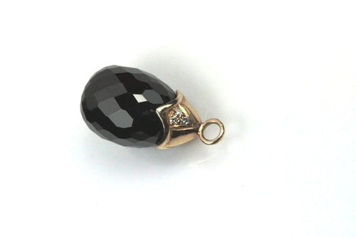 Beautiful Natural Black Spinel Gemstone Pendent
