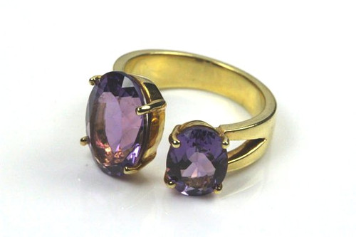 Unique Natural Amethyst Ring