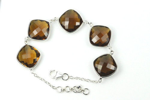 Natural Smoky Topaz Bracelet