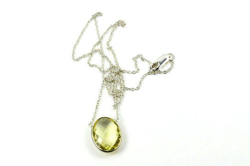Natural Lemon Quartz Necklace