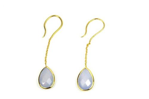 Beautiful Earrings, blue chalcedony