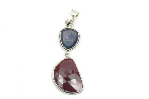 Vintage Ruby Sapphire Pendant