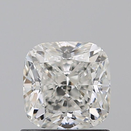 Cushion Modified 0.940ct cut G color VS1 - 14K White Gold Setting