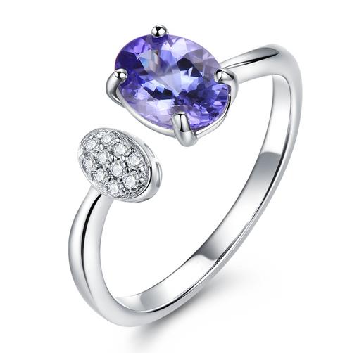 Diamond and Tanzanite Antique Ring