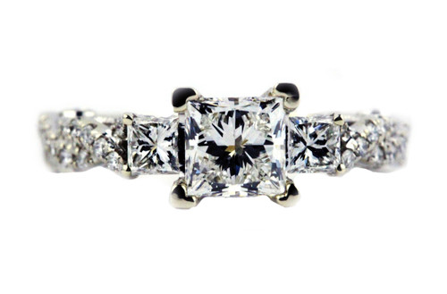custom order - princess cut engagement ring
