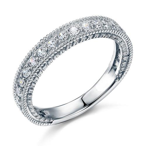 Antique Round Diamond Anniversary Wedding Band ARD482